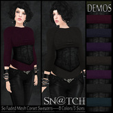 :::Sn@tch Mesh So Faded Corset Sweaters (DEMOS):::