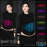 :::Sn@tch Mesh So Emotional sweaters-All Colors (XSmall):::
