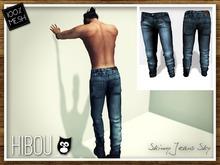 *Hibou* Skinny Jeans MESH Sky