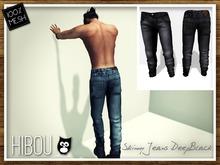 *Hibou* Skinny Jeans MESH Deep Black