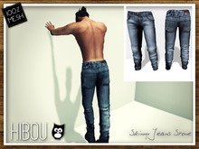 *Hibou* Skinny Jeans MESH Stone