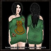 Nomine Mesh Kitty Sweater - green