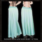 Nomine Mesh Low Maxi Skirt - lt teal