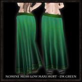 Nomine Mesh Low Maxi Skirt - dk green