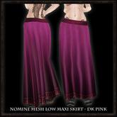 Nomine Mesh Low Maxi Skirt - dk pink