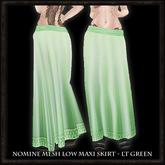 Nomine Mesh Low Maxi Skirt - lt green