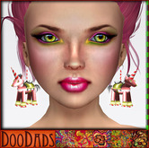 DooDads - Mystical Pink Unicorn Earrings
