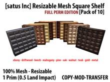 [satus Inc] Resizable Mesh Square Shelf (Pack of 10) Full Perm (1 prim)