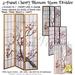 *PV* 3-Panel Cherry Blossom Design Room Divider - 4 in 1!