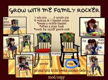 Mudlarks Grow With Me Family Rocker (Cedar/M/C)