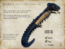 Basilisk Dragon Familiar - Shoulder Pet