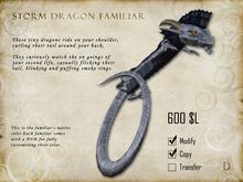 Storm Dragon Familiar - Shoulder Pet