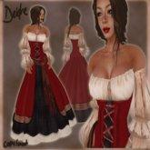 ...~L&S~Deidre_Red_ medieval gown dress