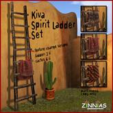Authentic Southwestern Flair - Zinnias Kiva Spirit Ladder (texture change)