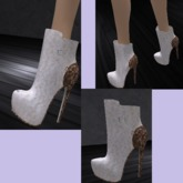 Mesh_Chelsea Stilletto Ankle Boots  GIFT*