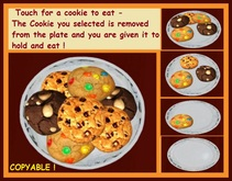 Homemade Cookies !  Each Cookie is really removed from dish !