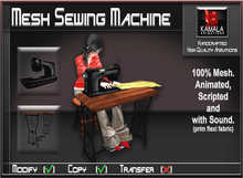 Mesh Crafts *Sewing Machine with Stool* Copyable Item