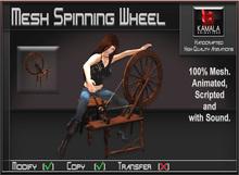 Mesh Crafts *Spinning Wheel with Stool* Copyable Item