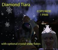 Diamant Tiara mit optionaler Kristallschneeflocken