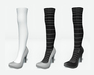 Stiletto shoes with overknee tights uv