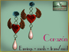 Bliensen + MaiTai - Corazon - Earrings