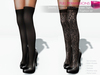 Full Perm Rigged Mesh Stilettos With Over Knee Tights - Fashion Kit