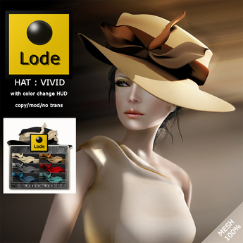 *LODE* Hat - Vivid [black]