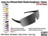 [satus Inc] Ultimate Mesh Shades / Sunglasses - Unisex (15 in 1)