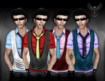 Pixlights Factory Casual Shirt with vest with HUD DEMO