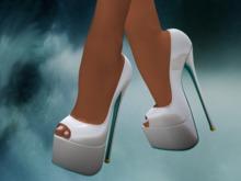 Ixone Peep Toe Platform Heels Multicolor with Mesh Feet and Hide Shoe option