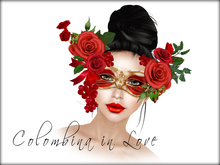 Boudoir -Colombina in Love Mask
