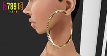 [7891.] Mining Earrings - Gold (W\Resize)