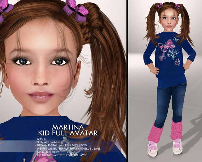 TuTy's - Martina - kid girl full avatar