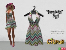 *Citrus* Sarasota Halter Dress- Ziggy