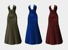 V cut gown dress