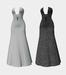 V cut gown dress uv