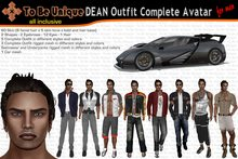 To Be Unique - DEAN Outfit Complete Avatar for man [partially MESH] (BOX)