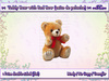 :-: Valentine Teddy Bear with Red Bow (Osito de Peluche) :-: