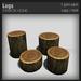 :FANATIK HOME: Logs - mesh shop display in shape of a tree trunk