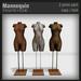 :FANATIK HOME: Mannequin - mesh clothing mannequin - mesh display dummy
