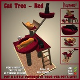 Cat Tree [Red] by Vavoom! - Supplies for Virtual Kennel Club (VKC®) Pets - No Training Required