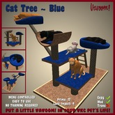 Cat Tree [Blue] by Vavoom! - Supplies for Virtual Kennel Club (VKC®) Pets - No Training Required