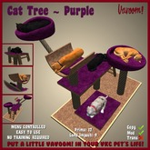 Cat Tree [Purple] by Vavoom! - Supplies for Virtual Kennel Club (VKC®) Pets - No Training Required