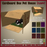 Cardboard Box Pet House by Vavoom! - Toys and Accessories for Virtual Kennel Club (VKC®) Pets - Dog House - No Training