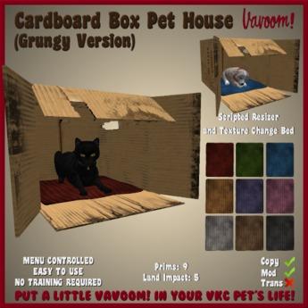 cardboard box dog bed