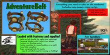 Mudlarks AdventureBelt: Brown - Resize Script + Gives blanket w/ animated poses, campfire, food and more!