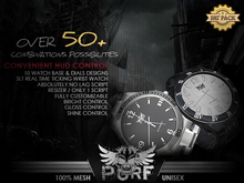 PURF - Casual Mesh Watch   REALISTIC WORKING WRIST WATCH   HUD CONTROL   10 DESIGNS   10 DIALS   1 SCRIPT ONLY