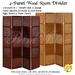*PV* 4-Panel Wood Room Divider - 2 in 1!