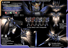 "*D&D* GD01M- Wing Gundam Zero Custom ""Seraph""    1:10 Platinum Edition (BOXED)"