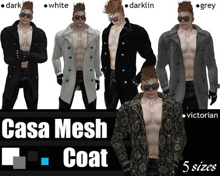 casa Mesh Mens Coat (darklin)
